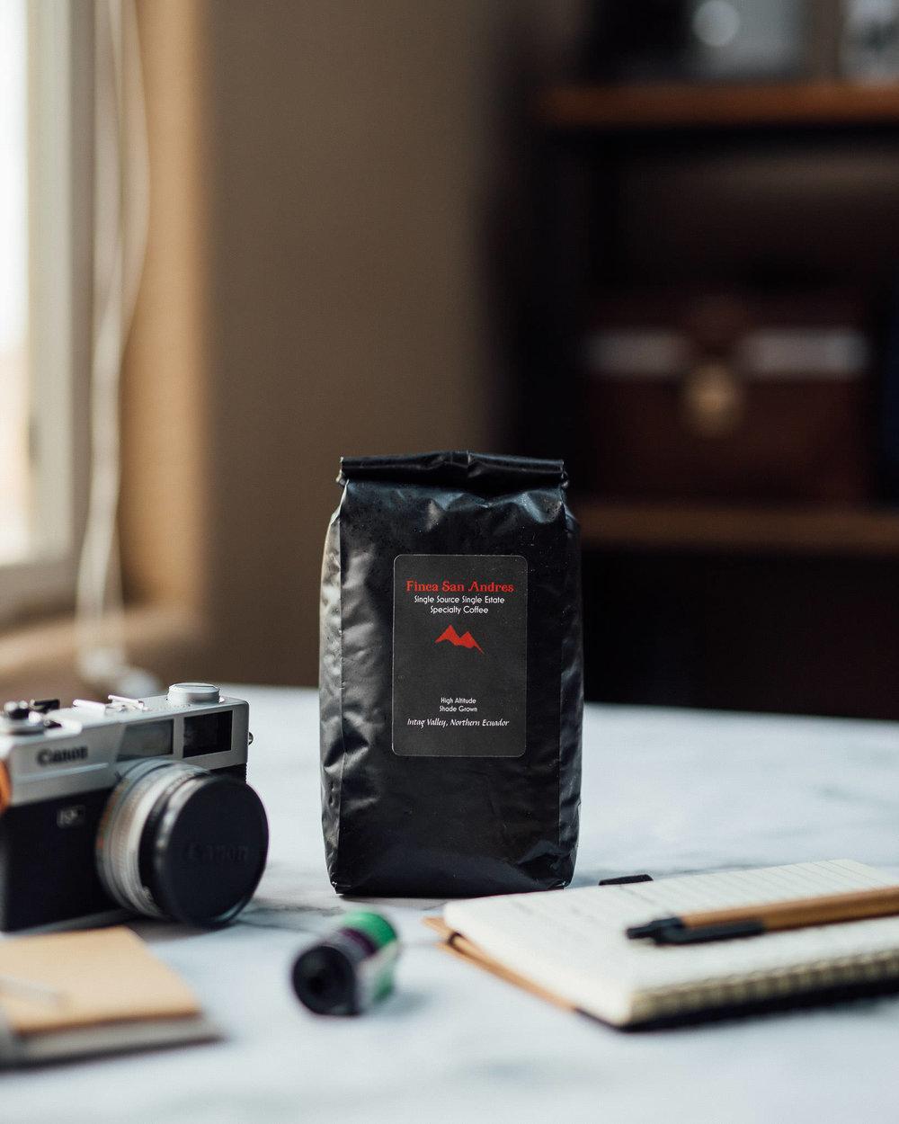 Finca San Andres whole bean specialty coffee from Ecuador