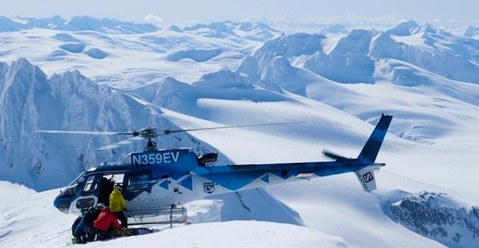 help skiing heli snowboarding in alaska