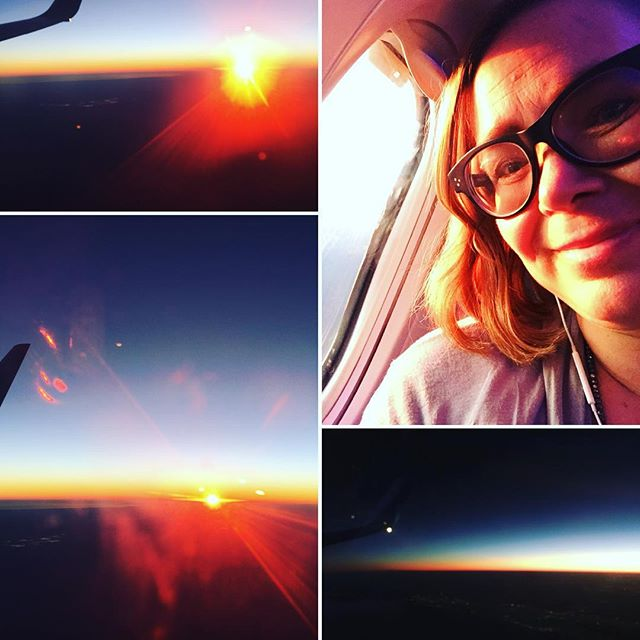 """My mission to empower people to build a world 🌎 that works for everyone based in true partnership between men and women drives me to travel a lot. 🛩 Seriously a lot! ✈️ I live in California 🏄♀️between San Diego and LA and flew in the last ten months twice to New York, twice to Germany, ones to Rome/Italy, ones to Cincinnati and yesterday the second time to Puerto Rico and in three weeks again to Germany.  I either empower 💪🏼from stages through speaking or privately by caring ❤️ and upleveling the professional care for my demented parents back in Germany or through workshops or top executive coaching and leadership training. No matter the form, the essence is always the same. """"We all are always more powerful than we think we are."""" 🧠Even though I fly so often the sunset 🌞last night on my leg 🛬from Atlanta to San Juan 🌸🌴🌺 above the clouds was magical! It reminded me on the magic we all have access to! And if you want some 'practical magic' in the form of products and tricks how I stay healthy and on my best energy level despite timezone hopping, check out my IGTV video about the """"magic content of my tiny traveling bag""""! ✨#womanonamission #frequentraveller #IlovePuertoRico 🌴🌸#Ilovemylife #Ilovemywork #seizeyourmagic #empowerment #beckerhillwomensempowermentschool 🧗🏼♀️🤽🏽♀️🧘🏼♀️🏄♀️🚴🏻♀️🧠💄"""