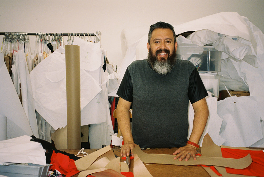This is Jorge, a talented pattern maker and sewer who runs a small production workshop in Downtown LA where we sew our garments. His work ethic and dedication to quality make him an integral part of the small businesses he works with.
