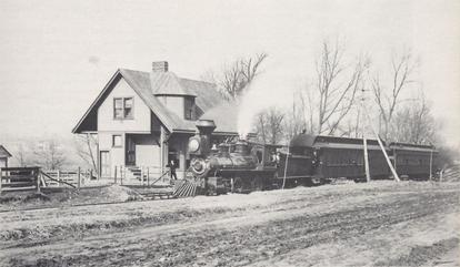 CL&N #6 passing the Norwood Park station