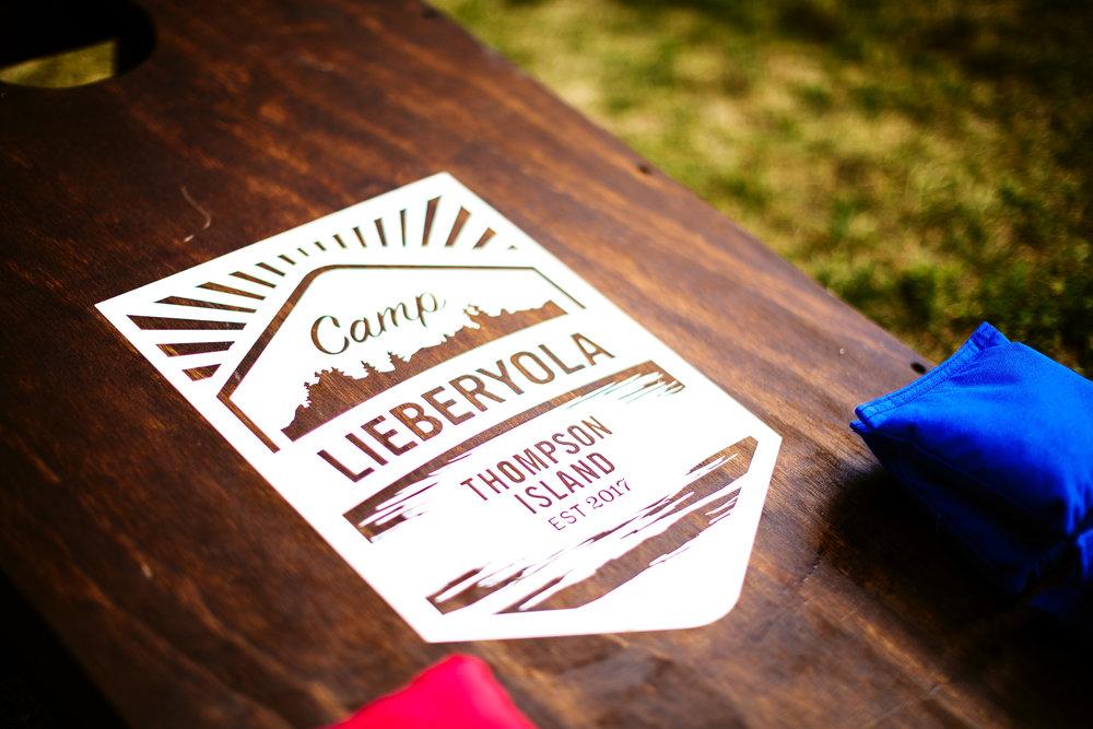 Camp Lieberyola   Logo design, branded collateral