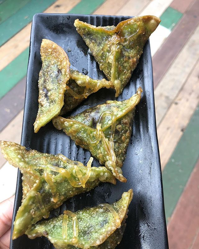 Happy Humpday! Perfect Day for crispy vegan @sillychillydumplings made out of Cabbage, onion, garlic and 11 different types of spices from all over the world.  Come visit 59th street & Columbus Circle, Manhattan - open till 8pm