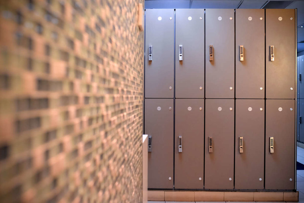 Marriot Hotel Orchard - BOH Staff lockers with digi-locks.
