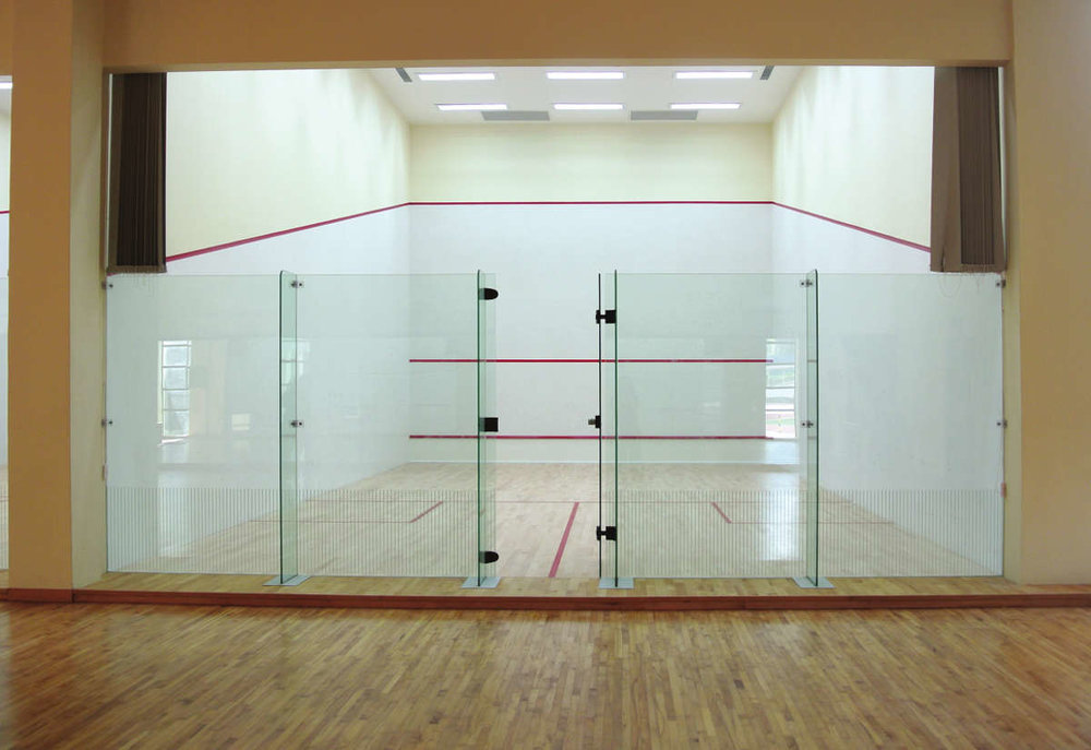 Copy of ACJC Squash Court - With Armourcoat specialist heavy duty walls, Junckers sports grade pre-finished timber flooring, and specialist glass walls and doors, to comply with necessary standards.