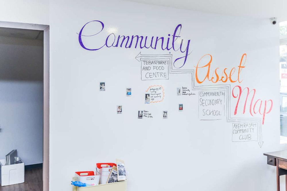 St Luke's ElderCare - Ideapaint on walls & cabinets, revitalising spaces for elderly