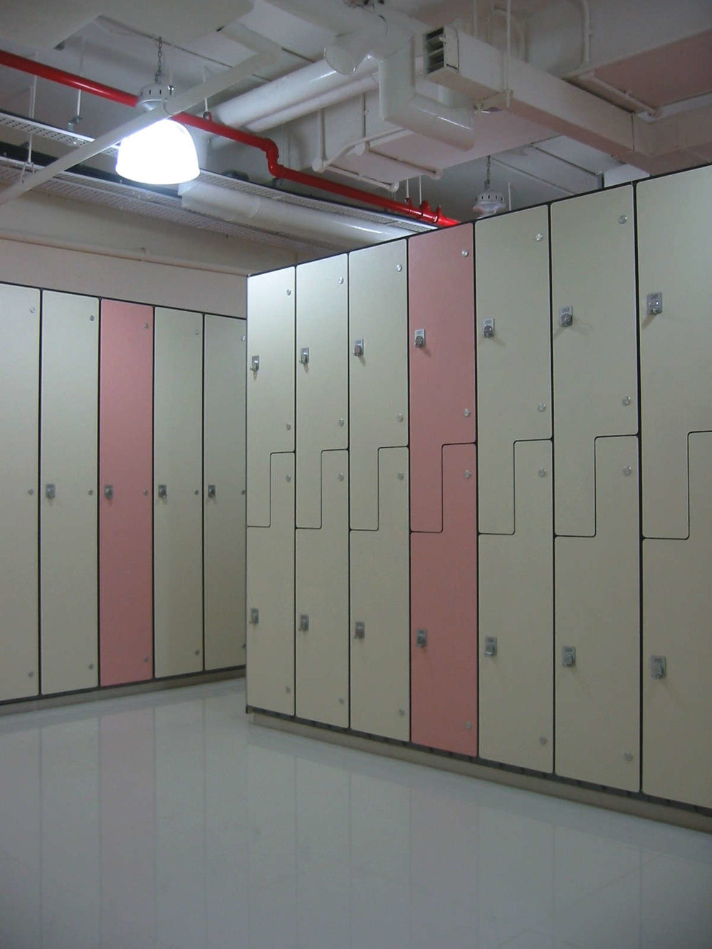 Shangri-la Hotel - BOH staff lockers, modular, easy install components with custom phennolic housing for ease of cleaning and maintenance.