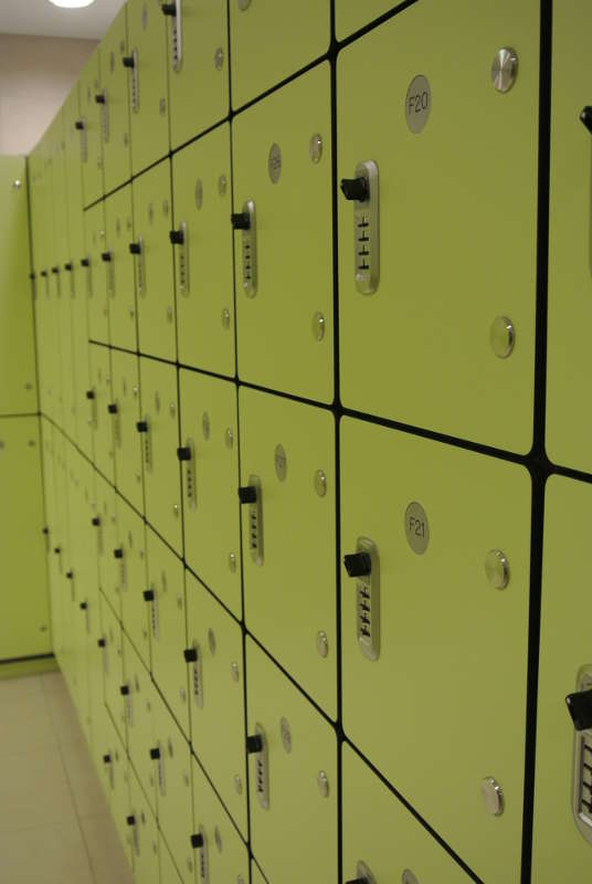 W Hotel Sentosa - BOH Staff custom & modular lockers, with programmable locks and ease of re-configuration.