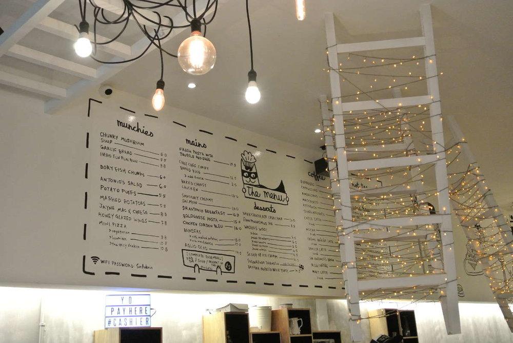 Tiramisu Hero- IdeaPaint on menu board, for a creative offering