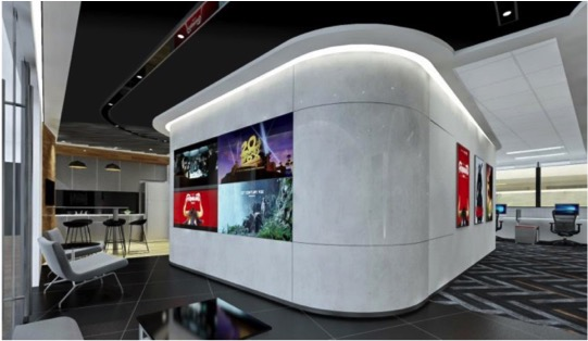 20th Century Fox Offices- 1800m2, Armourcoat finishes, high gloss finishes and textured accent coatings.