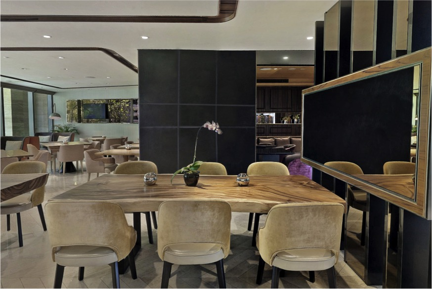 Copy of Sofitel Singapore City Centre- Armourcoat Spatulata accent panel walls