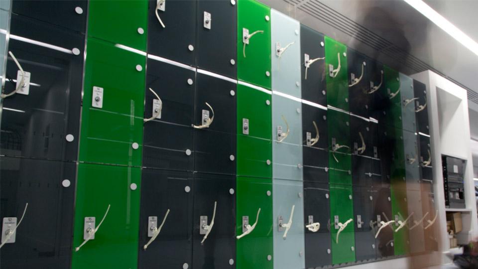 Glass Door lockers
