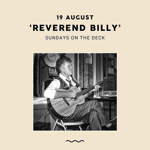 This Sunday we have Reverend Billy aka Bill Martin who will be keeping us entertained with an afternoon of live music. As a multi instrumentalist and vocalist his style of fingerpicking acoustic blues is a complex technique of playing bass lines, rhythm and melody all at once, capped with true blues vocals 👌🏼 A talent not to be missed. Can't wait to see you there — bar opens at 12 with music starting at 2pm 🎶