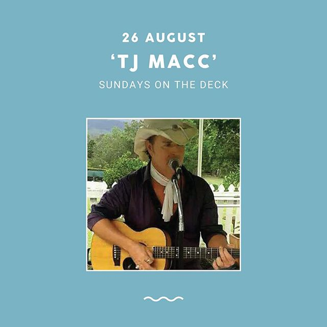 Tomorrow's live music Sunday sesh on the deck will be featuring TJ Macc! Come along and enjoy his acoustic stylised covers with groove and swagger 🍻 —— bar opens at 12pm with music starting at 2pm. See you there!