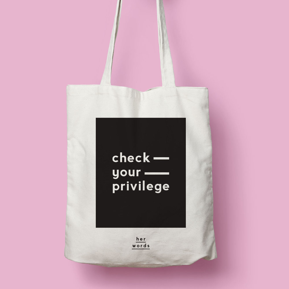 Check your privilege Tote BAG -