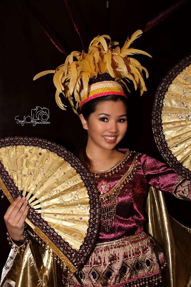 Bianca Jolyn Garcia, 18 years old, posing in a traditional Ifuago attire.