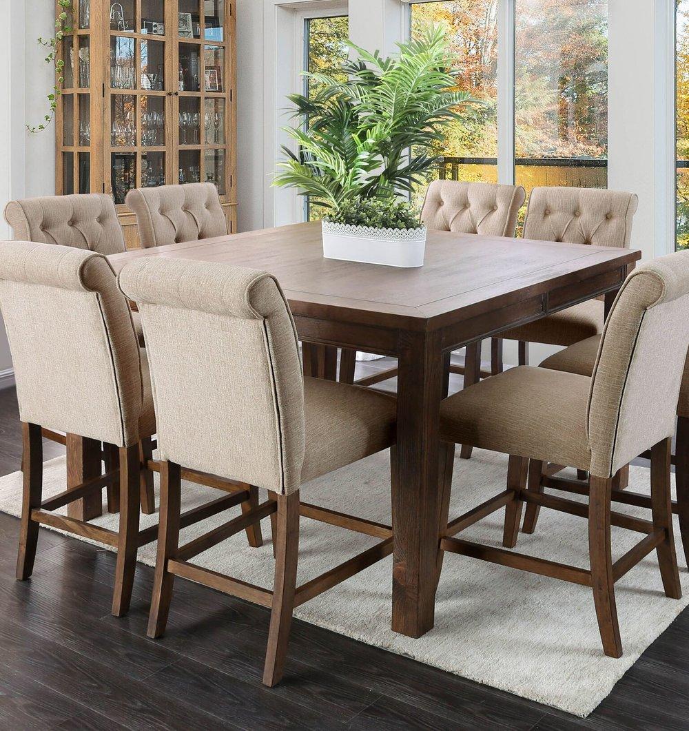 elda rustic pub table set in rustic oak exkuisite