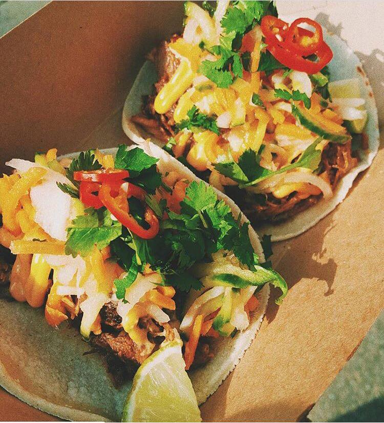 The Bahn-Miguel  - Vietnamese BBQ pork, served with pickled carrot, cucumber and daikon, fresh chilies, sriracha mayo & fresh coriander leaves
