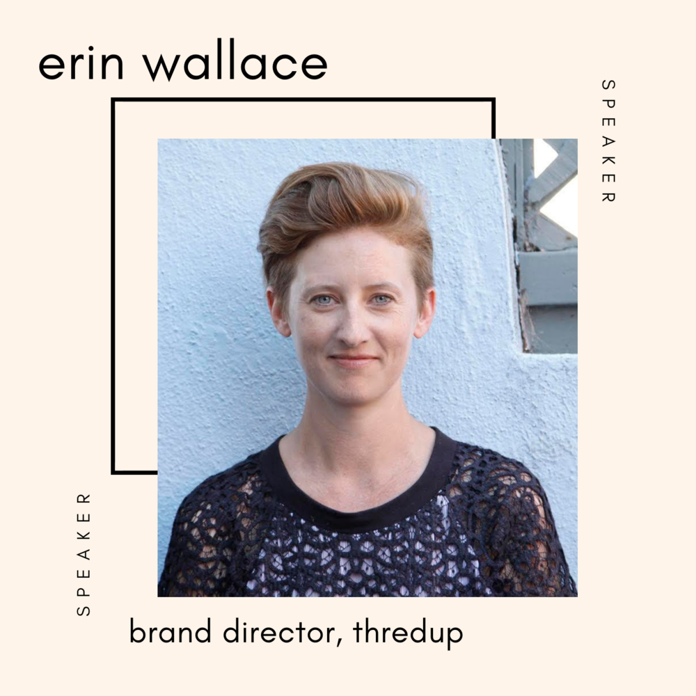 erin Wallace thredup at the sustainable fashion forum