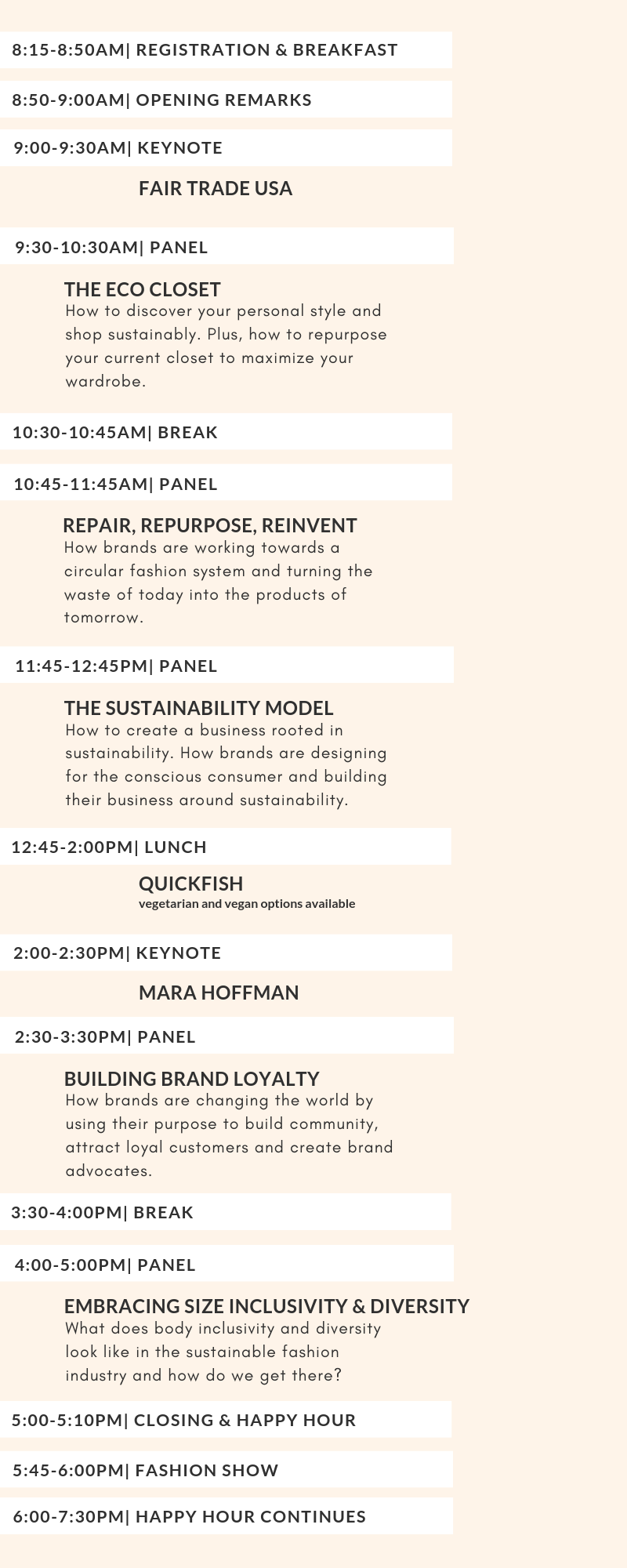 the sustainable fashion forum 2019 schedule