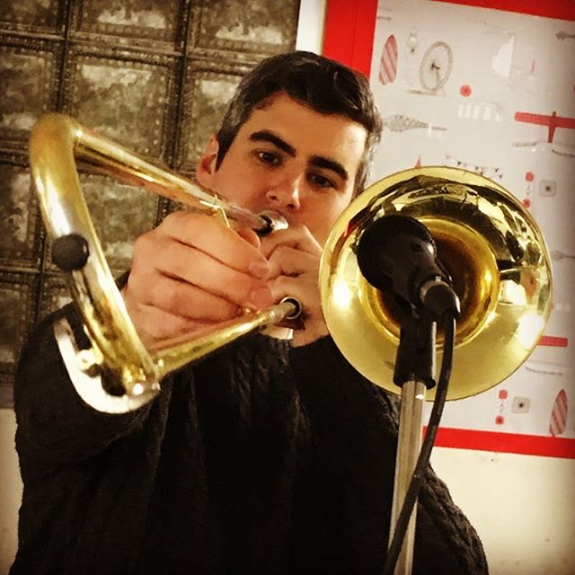 Getting some new horn lines in!! #gettinghorny #horny #trombone #rustytrombone #bone #boner #trombones #trombonesolo #hornypoppunk