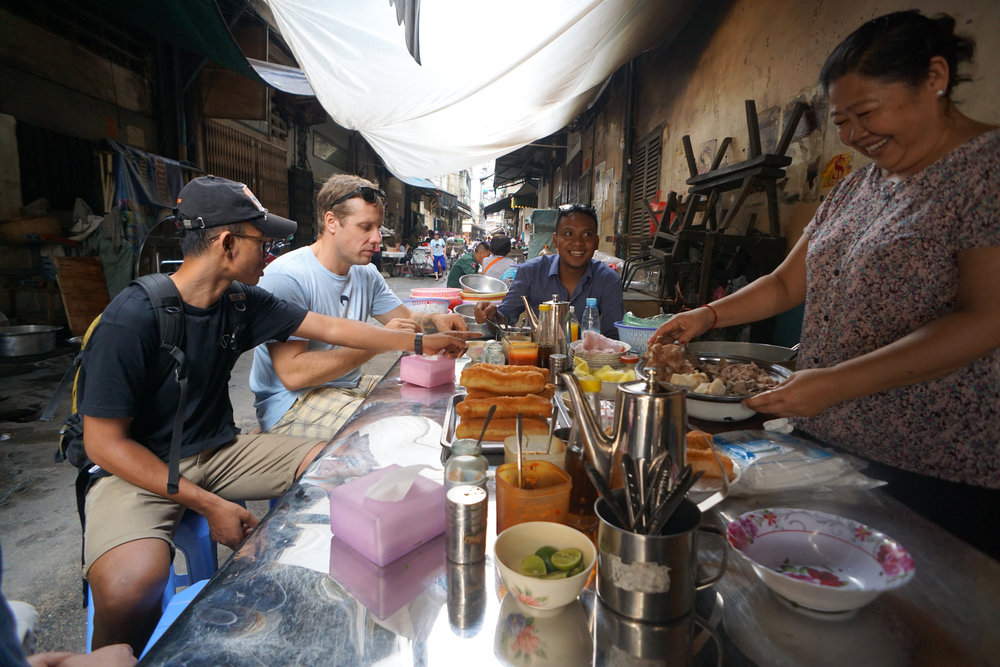 Breakfast around town with Phnom Penh Food Tours.