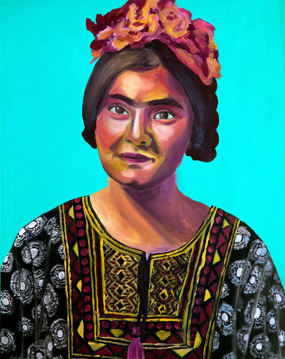 Far Too Frida - Oil on canvas20 x 16 inches2018