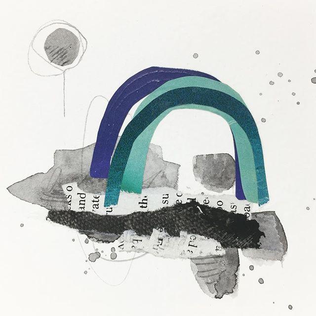 Wee Rainbow. . . . #collageartist #cutandpaste #collageart #yyjarts #vintageimages #miniart #kolajmagazine #instaart #handcutcollage#artistsoninstagram #collagear #jessadupuisart #femaleartist #originalart #edinburghcollagecollective #collagecollectiveco #yyj #vancouverislandartist #dailyart #jealouscurator #createmagazine