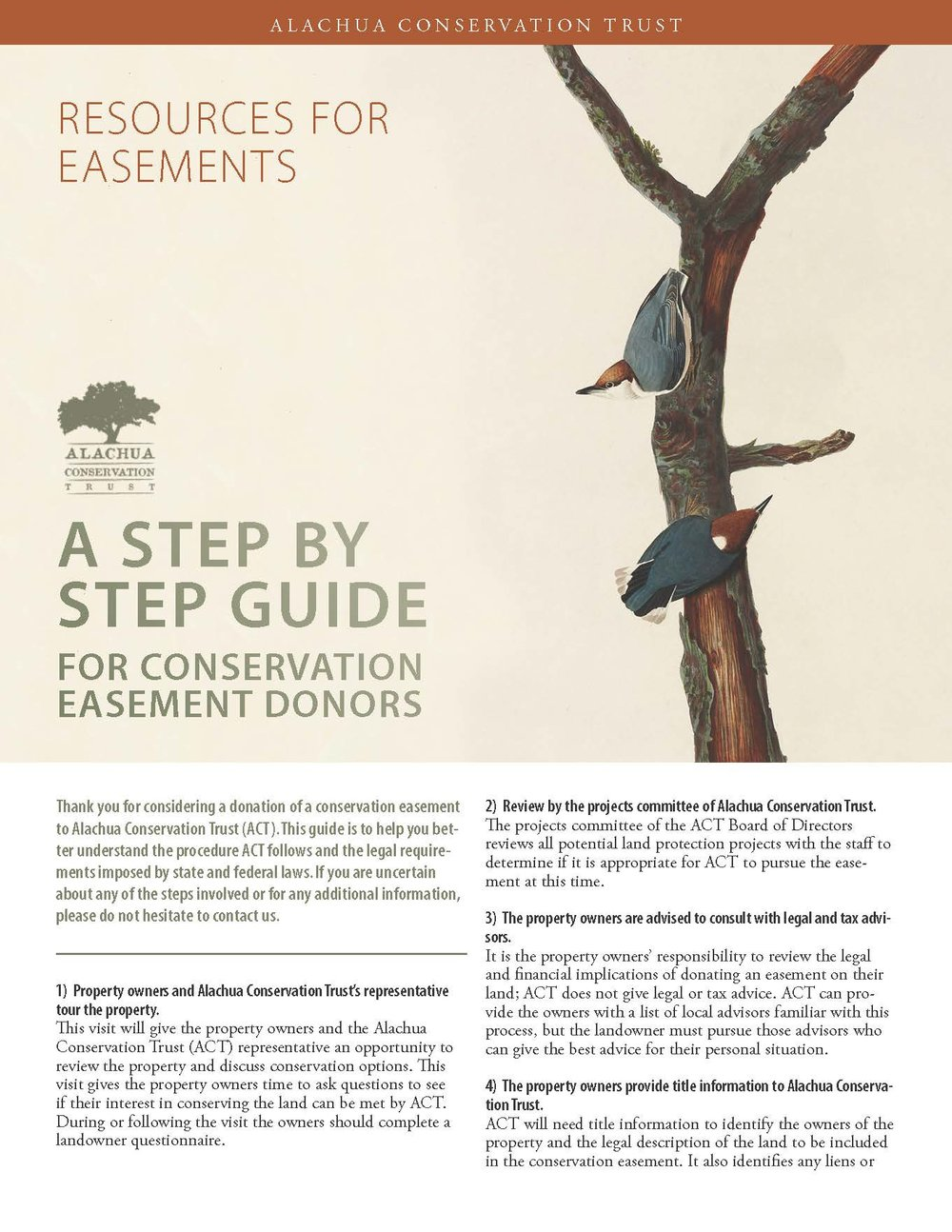 Step by Step Guide for Conservation Easement Donors