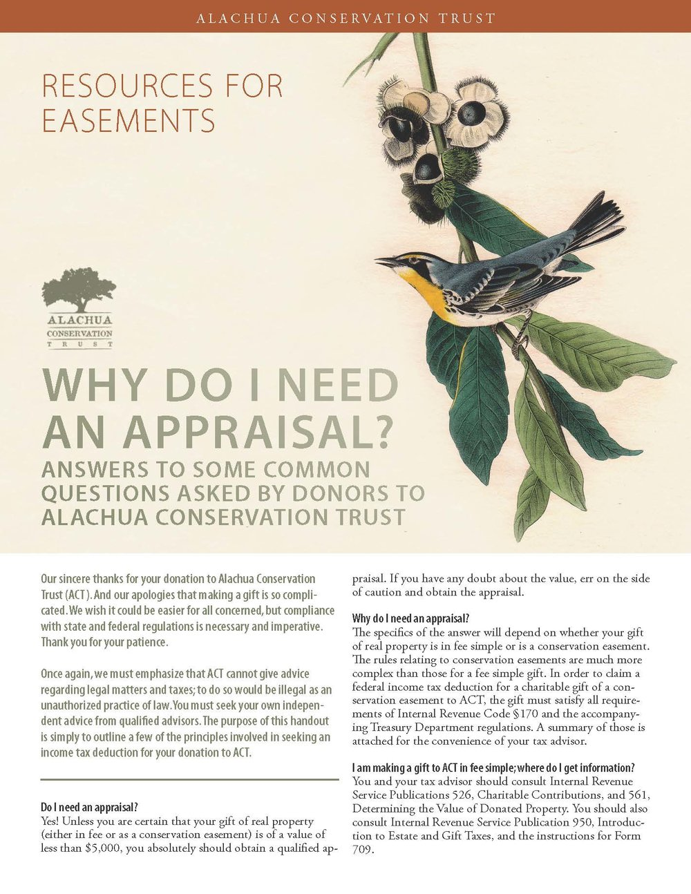 Why do I need an Appraisal? and other FAQs