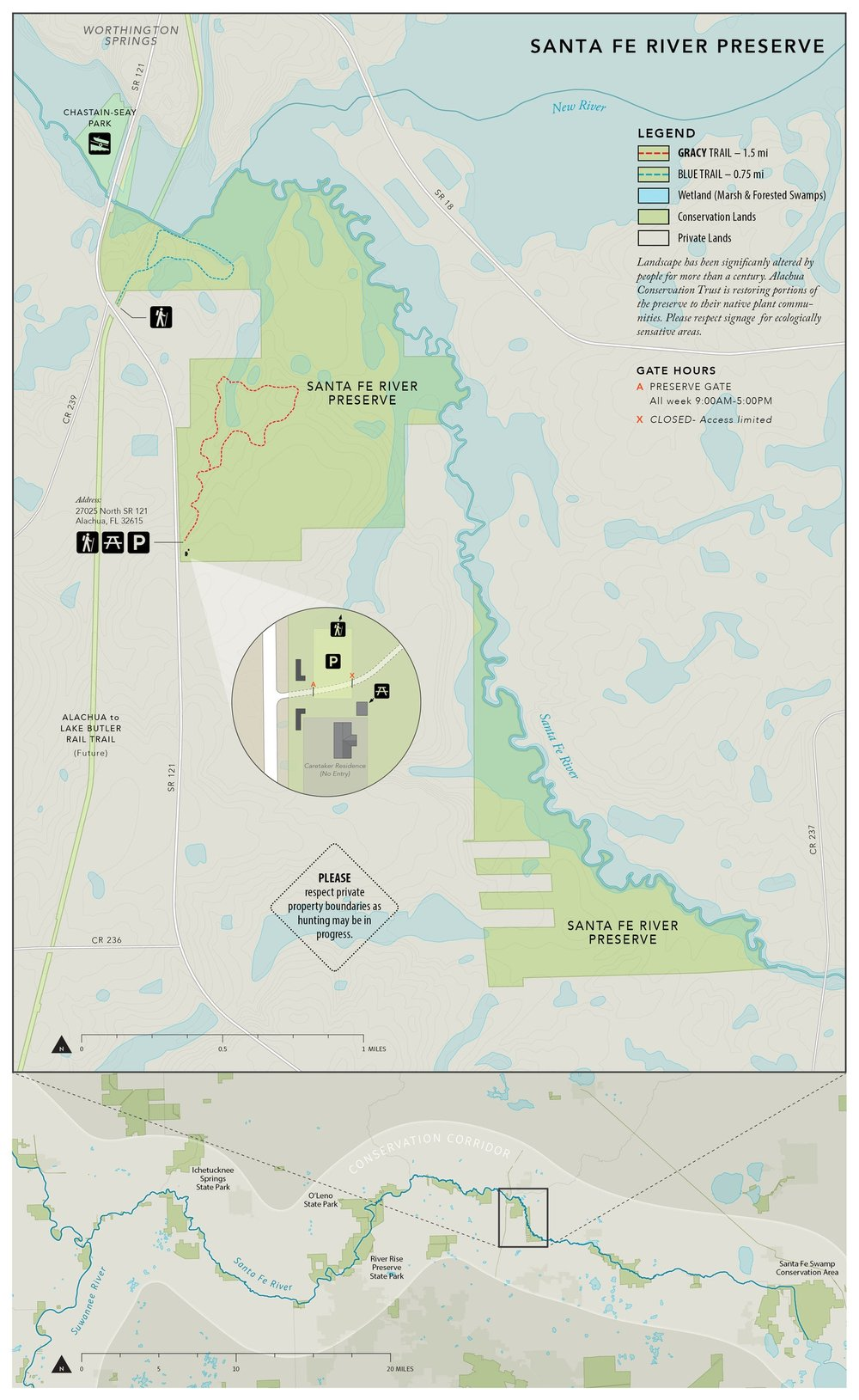 Florida Rails To Trails Map.Alachua Conservation Trust Santa Fe River Preserve Guide