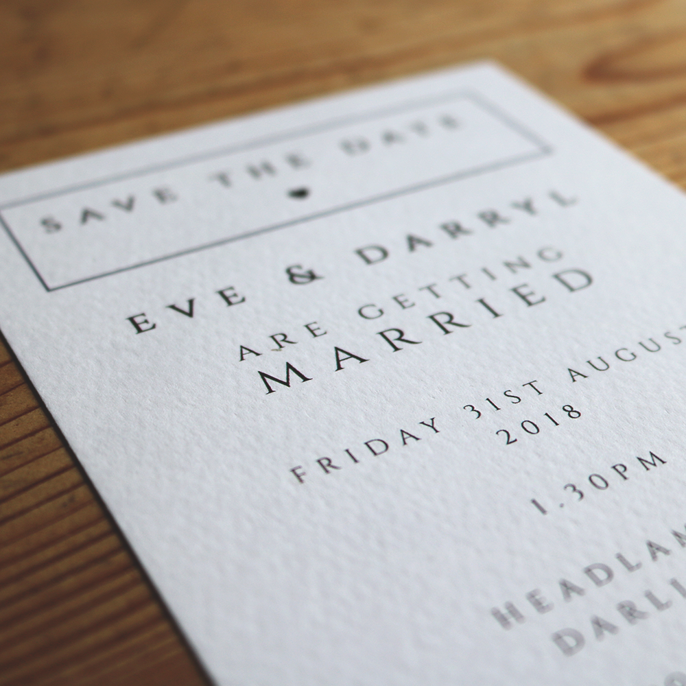 Hammered Textured Card with Monochrome Design