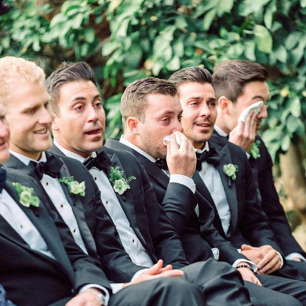 Jana Williams Photography captured this moment beautifully, of the Bride's older Brothers getting emotional during the ceremony