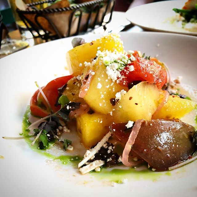 Watermelon. Heirloom Tomato. Feta. Perfection. . . . #summer #watermelon #tomatoes #feta #salad #vinaigrette #dressed #summersalad #refresh #fresh #live #eat #enjoy #choice #nyc #uws #classic #veg #veggies #fruit #fandv #fnv #fruitandveg