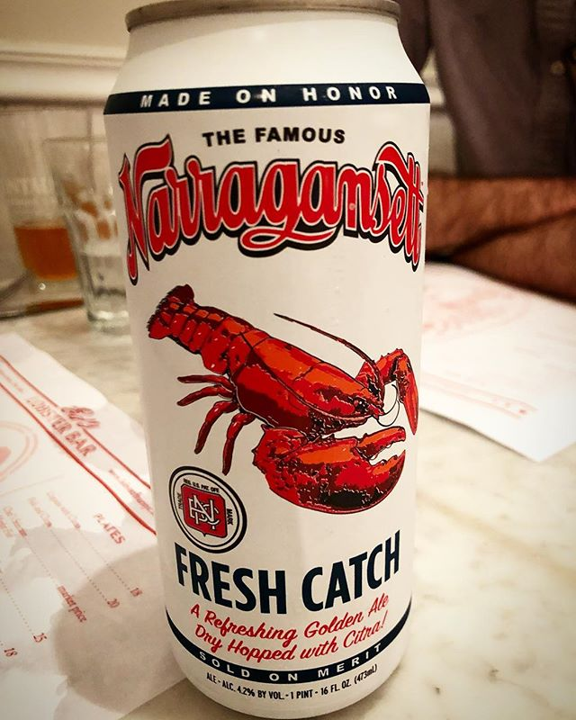 Consider the lobster. . . #lobster #lobstah #beer #brew #naragansett #ri #freshcatch #fresh #enjoy #live #eat #nyc #yum #choice