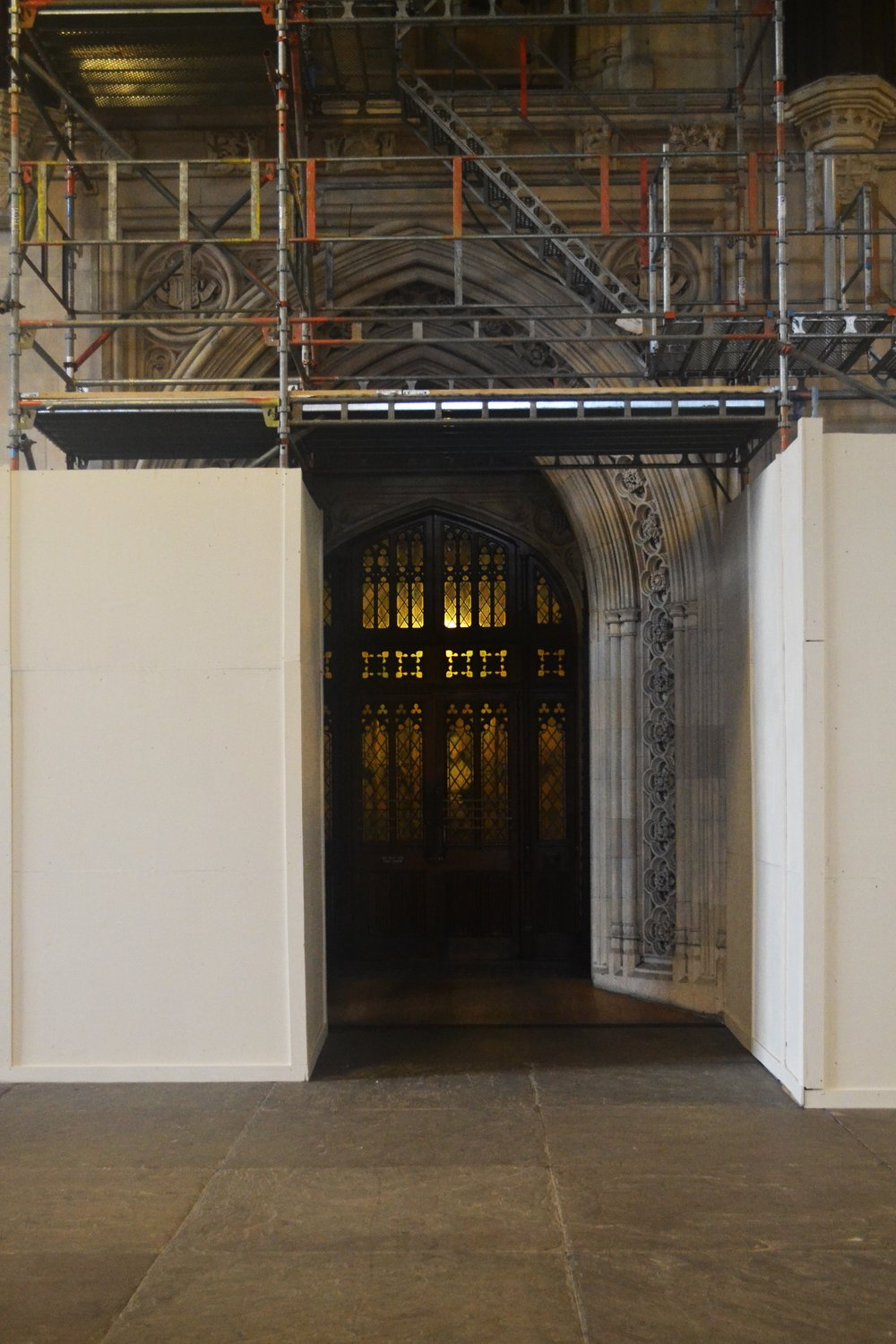 Restoration works continue in Westminster Hall -  the starting point for Full Route tours