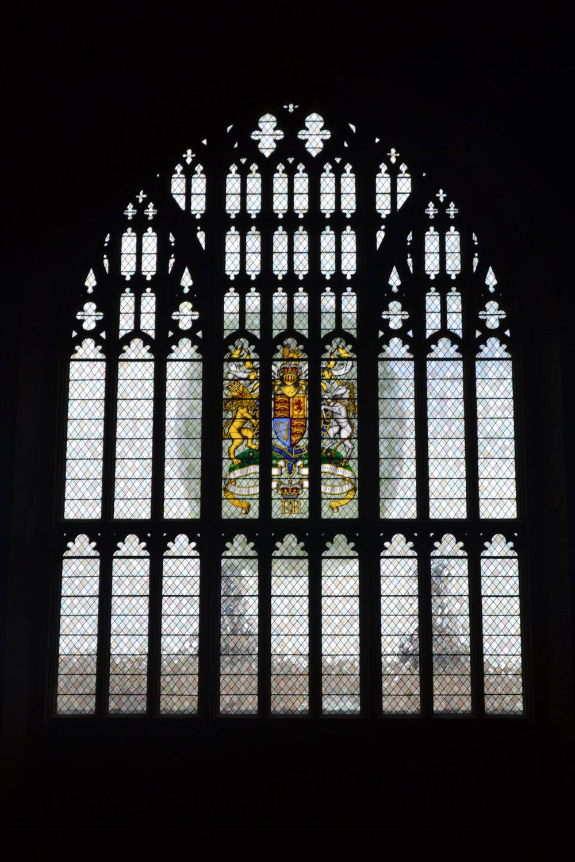 The Diamond Jubilee window in Westminster Hall