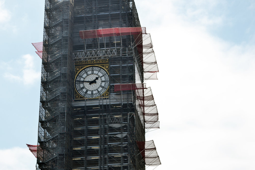 Ongoing restoration work to Elizabeth Tower (Big Ben) costing up to £61m