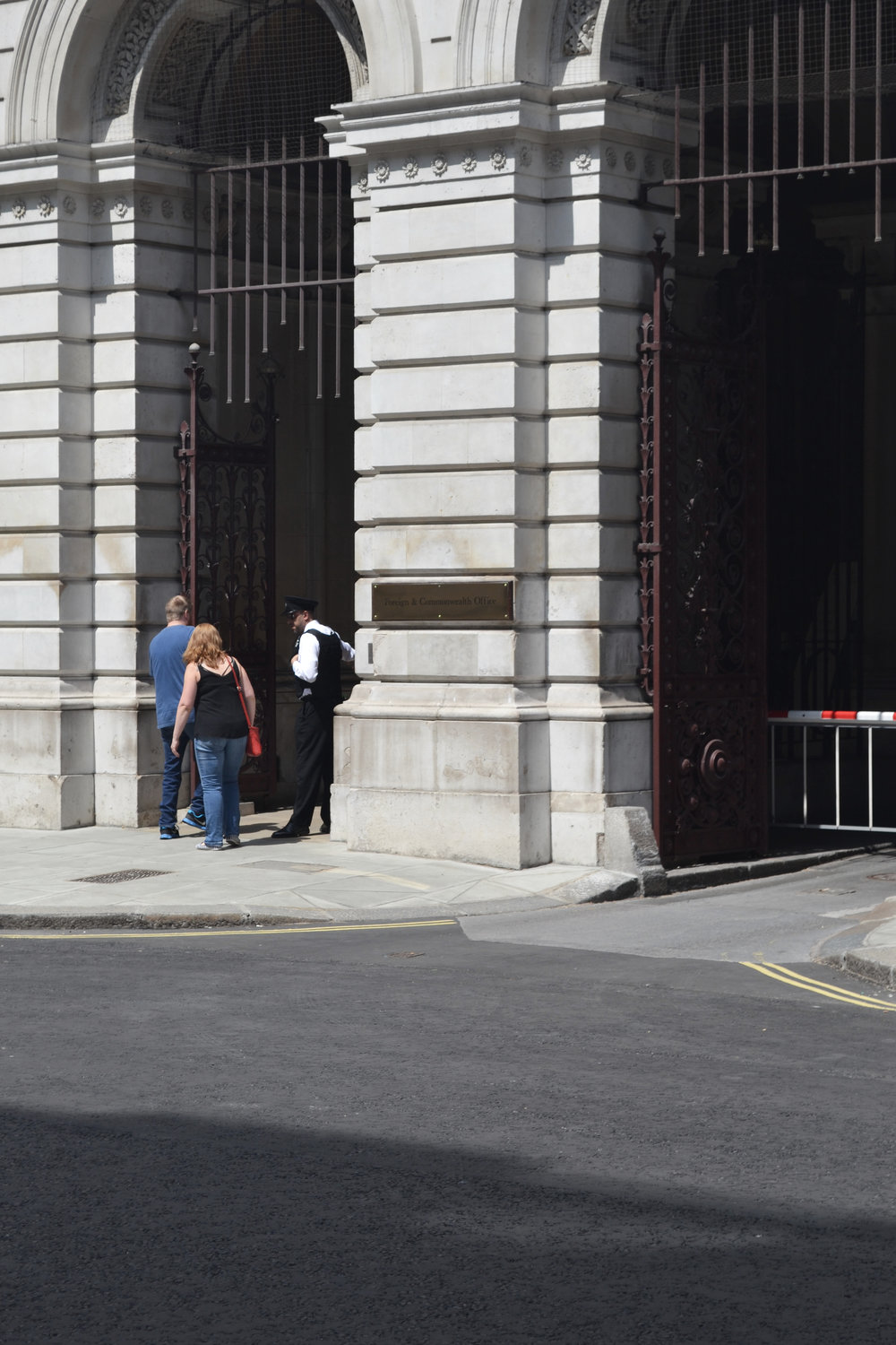 King Charles St entrance to Foreign & Commonwealth Office