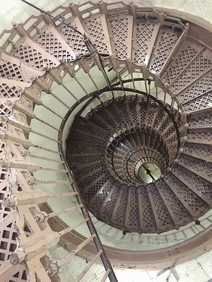 Ascending the 8 storey spiral staircase in Victoria Tower to access the Parliamentary Archives