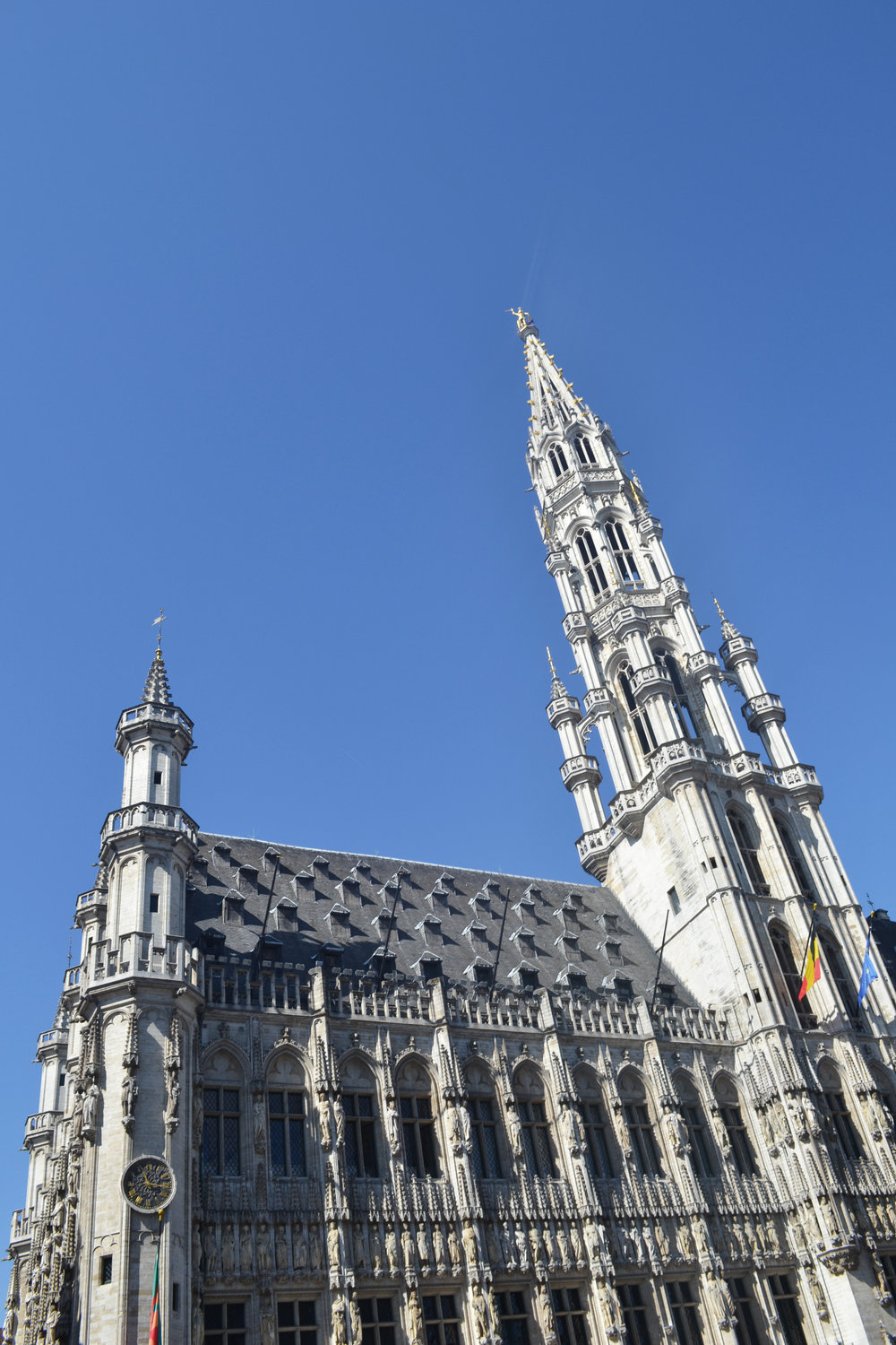 Brussels' Gothic Town Hall, completed in 1420
