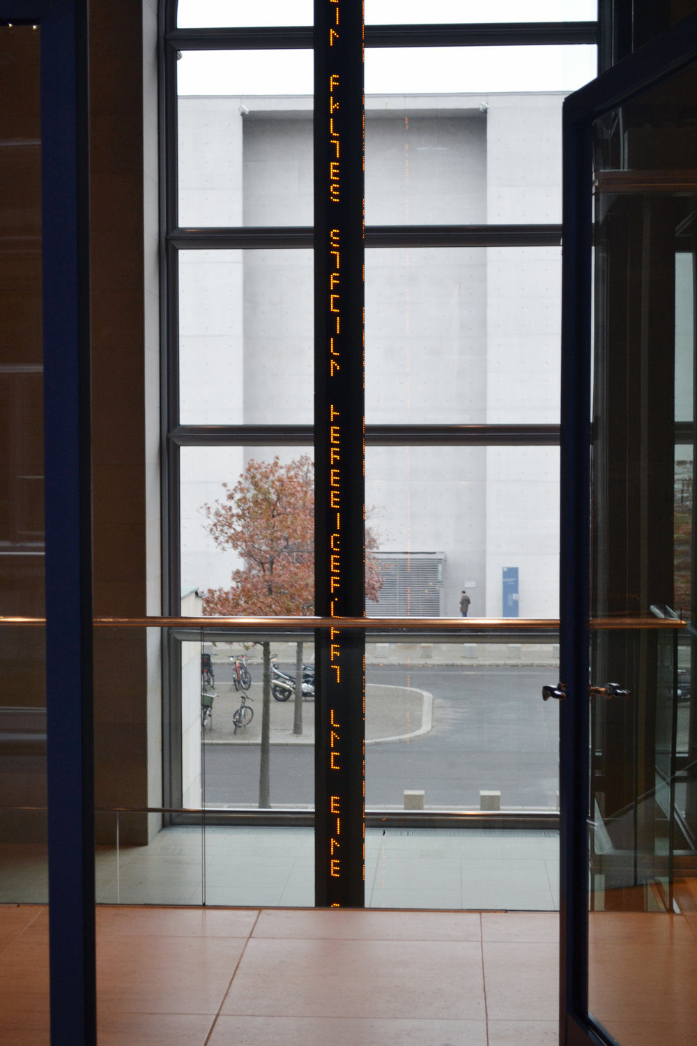 Jenny Holzer installation in the North Entrance hall