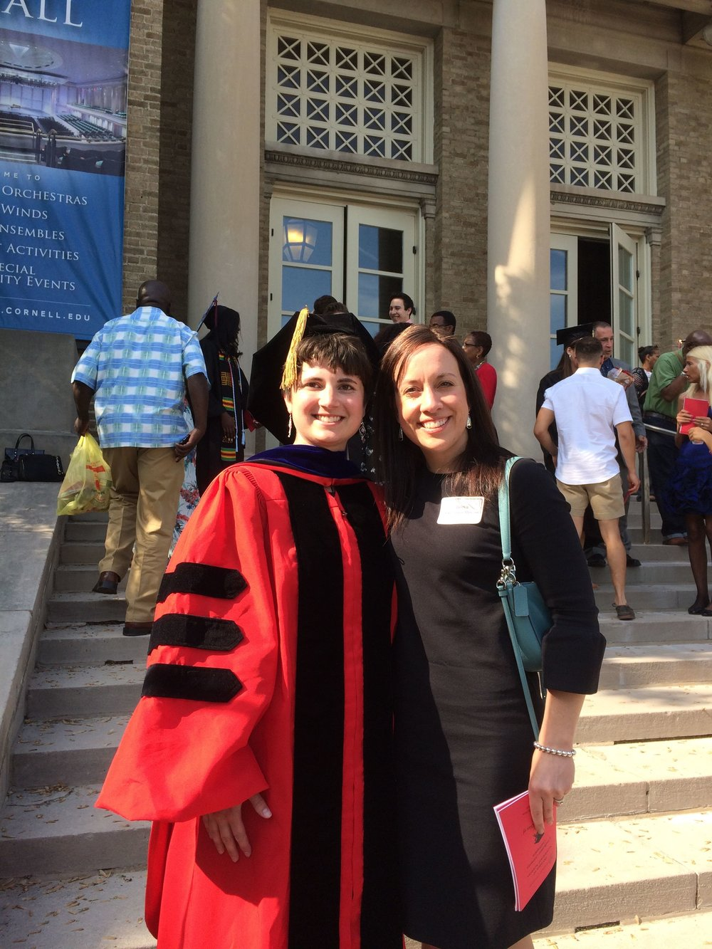 Emily Riddle and Dr. Thalacker-Mercer at the Division of Nutritional Sciences Graduation May 2018