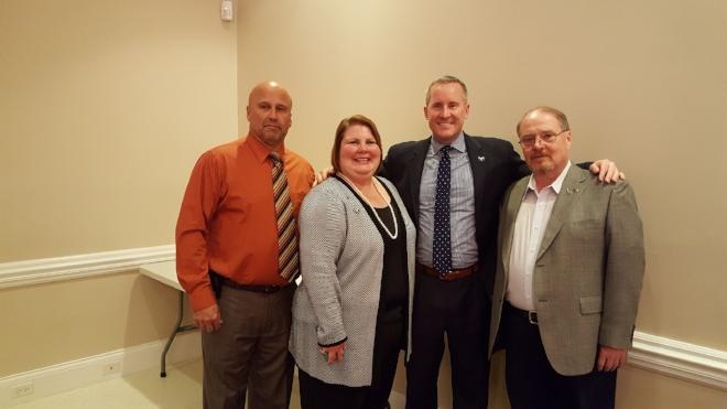 Tom Voland (District Secretary), Annette Craycraft (District Chair), John Zody (State Chair), Jeff Locke