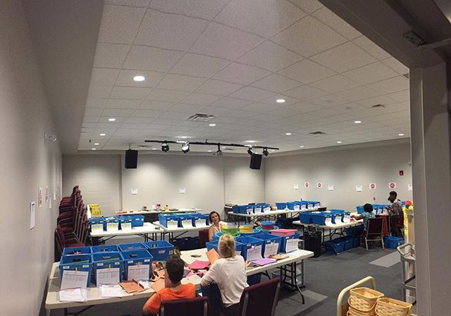 Tonight at the Prep Party our amazing volunteer team is preparing C4 Kids activities for the next two months! That includes over 2,500 crafts!