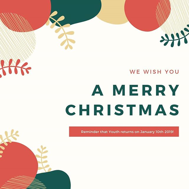 Merry Christmas!  We're on our Christmas break until January 10th, but we hope to see you at one of our Christmas services this year.  Check out the link in our bio for all the service times and locations.