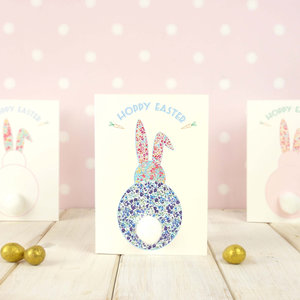 Easter cards chi chi moi pom pom easter bunny card 3d easter card easter wishes greetings card liberty print easter card easter gift childs easter card negle Images