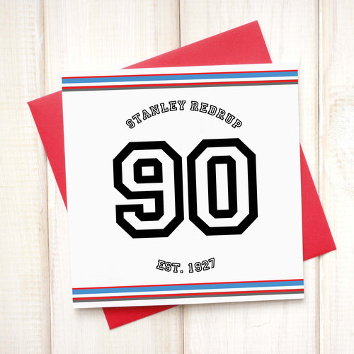 Personalised Sport 90th Birthday Age Card Chi Moi