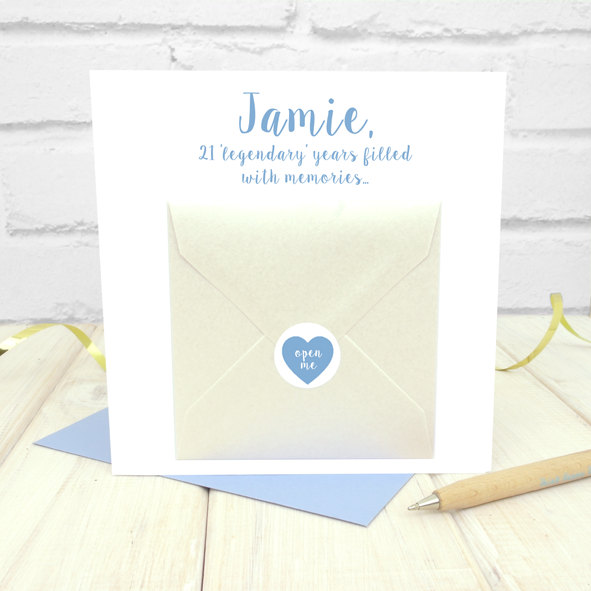 Personalised Top Five Memories Birthday Card For Him Chi Moi