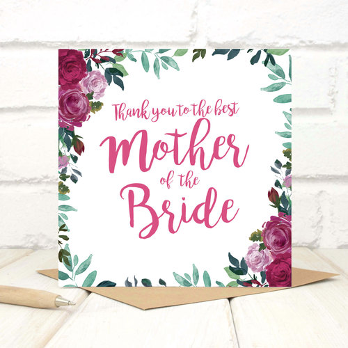 Thank you mother of the bride card chi chi moi thank you mother of the bride card m4hsunfo